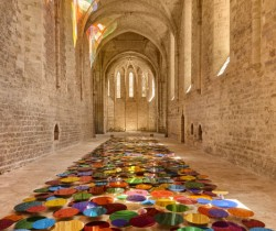 ART CONTEMPORAIN AUX ENVIRONS DE FIGEAC : ABBAYE DE BEAULIEU EN ROUERGUE